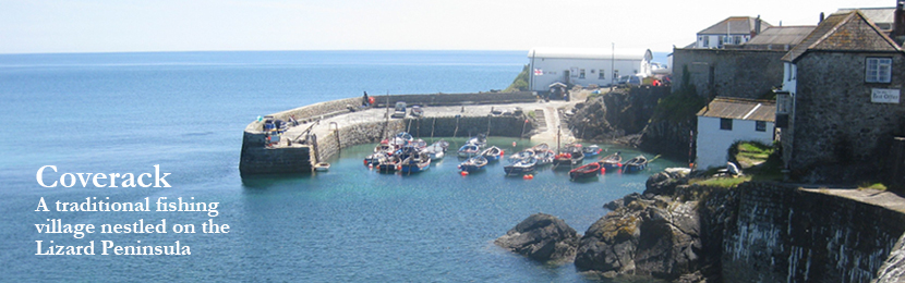 Cottages in Coverack, Cornwall